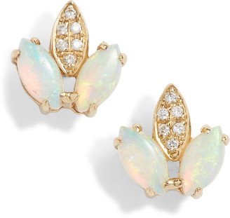 Dana Rebecca Designs Charlie Caroline Opal Stud Earrings
