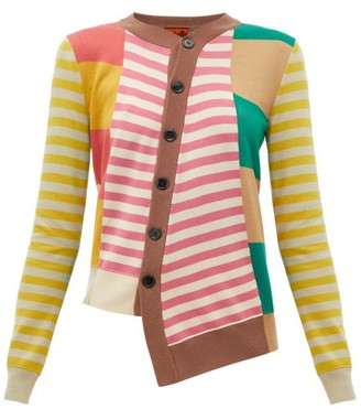 Colville - Striped Wool Cardigan - Womens - Red Multi