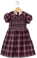 Rachel Riley Girls' Plaid Short Sleeve Dress