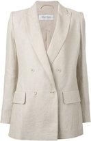 Max Mara double breasted blazer - women - Cotton/Linen/Flax - 40