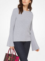 Michael Kors Cotton-Blend Bell-Sleeve Top