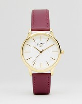 Limit 6235.37 Faux Leather Watch In Pink