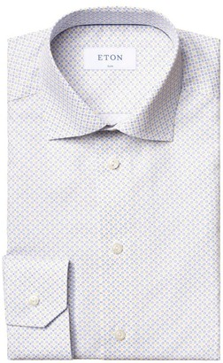 Eton Slim-Fit Micro-Print Cotton Dress Shirt