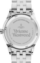 Vivienne Westwood Silver and Rose Gold Detail Stainless Steel Bracelet Ladies Watch