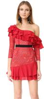For Love & Lemons Chianti Off Shoulder Ruffle Dress