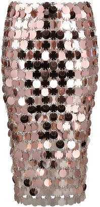 Paco Rabanne Paillette-Embellished Fitted Skirt