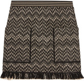 Missoni Wool-blend Crochet-knit Mini Skirt - Black