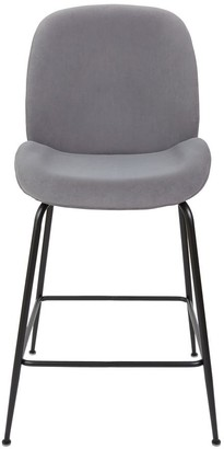 Vetro Furniture Enrico Bar Stool Grey Set/2