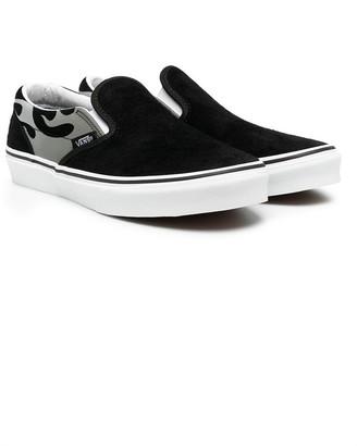 Vans Kids Leopard Print Slip-On Sneakers