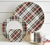 Pottery Barn Denver Plaid Salad Plate, Set of 4