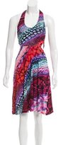 Torn By Ronny Kobo Printed Halter Dress w/ Tags