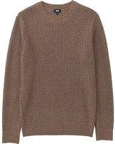Uniqlo Men Middle Gauge Waffle Crewneck Sweater