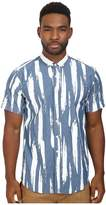Publish Thai - Paint Stroked Short Sleeve Button Up Woven