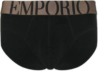 Emporio Armani logo band jersey briefs