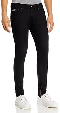 Versace Spray-On Zip Skinny Fit Jeans in Black