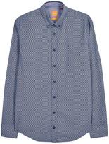 Boss Edipoe Geometric-print Cotton Shirt