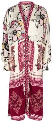 Free People C'est Moi Floral-print Kimono