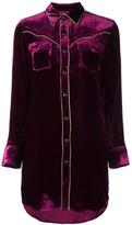 Saint Laurent Velvet Western Shirt Dress