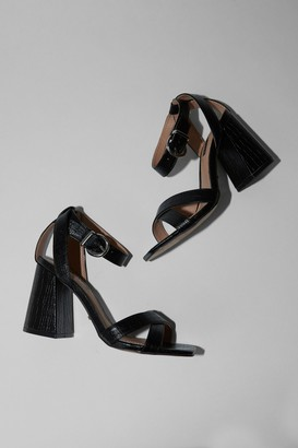 Topshop SACHA Black Ankle Tie Block Heel Sandals