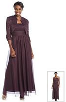 R & M Richards RM Richards R&M Richards® Lace Bodice Long Jacket Dress