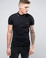 French Connection Plain Pique Tipped Polo Shirt