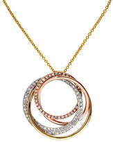 Effy 14K Tri Colour Gold Diamond Pendant