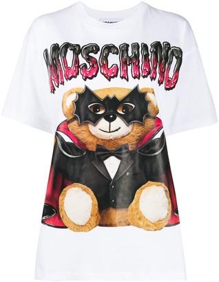 Moschino Bat Teddy Bear logo print T-shirt