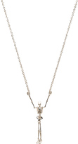 Vivienne Westwood Skeleton Long Necklace in Metallic Silver.