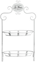 Premier Housewares Le Bain 2 Tier Stand - Cream