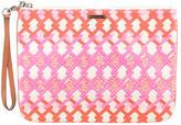 Rebecca Minkoff Leather-Trimmed Printed Clutch
