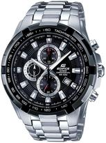 Edifice Stainless Steel Black Face Chronograph Mens Watch