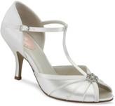 Linzi Paradox London Perfume Ivory Low Heel T-Bar Peep Toe Sandals