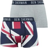 Ben Sherman Elliot Two Pack Trunks Navy Print/Grey