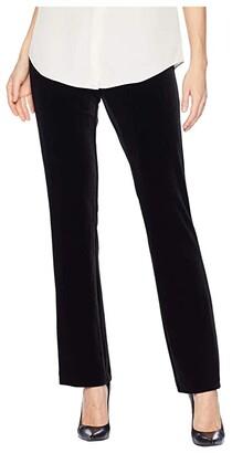 Krazy Larry Long Velvet Pull-On Pants (Black) Women's Casual Pants