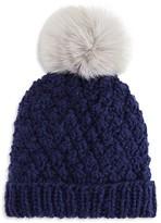 Nor La Knit Beanie with Faux Fur Pom-Pom