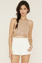 Forever 21 FOREVER 21+ Buttoned-Strap Shorts