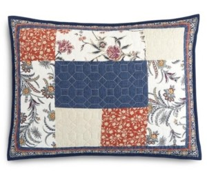 Martha Stewart Collection Mind Your Manor Floral Patchwork Quilted King Sham, Created for Macy's
