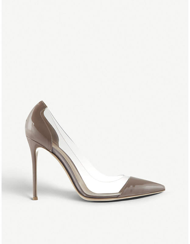 Gianvito Rossi Calabria patent-leather court shoes
