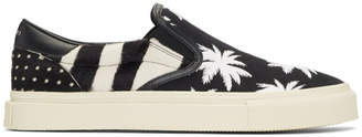 Amiri Black and White Calf-Hair Palm Slip-On Sneakers