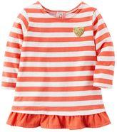 Carter's Baby Girl Striped Ruffle-Hem Top