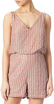 Adrianna Papell Beaded Playsuit, Rose Gold