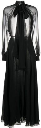 Ports 1961 Open-Back Long Silk Dress