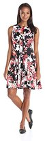 Julian Taylor Women's Floral Print Scuba Dress