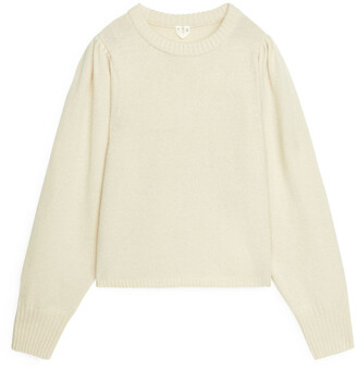 Arket Puff Sleeve Wool Jumper