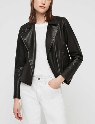 AllSaints Vela lamb leather biker jacket