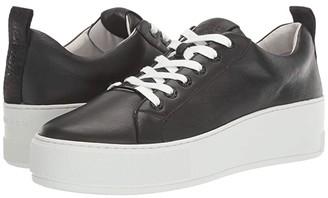 J/Slides Margot (Black Leather) Women's Shoes