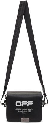 Off-White Black Wavy Logo Flap Bag