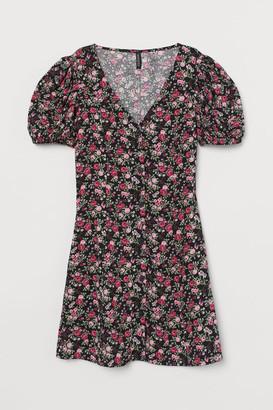 H&M Short Viscose Dress - Black