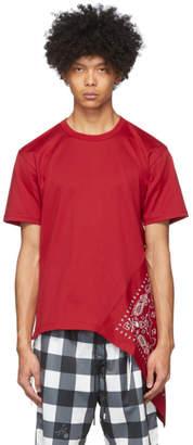 mastermind WORLD Red Side Bandana T-Shirt