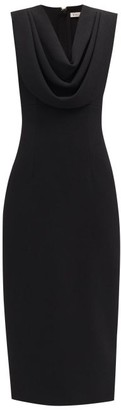 Emilia Wickstead Yuri Cowl-neck Crepe Dress - Black